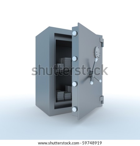 Reliable safe - stock photo