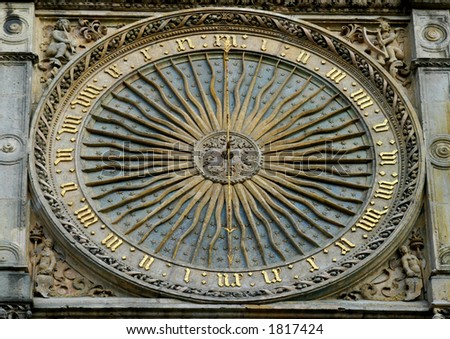 Relic clock on Chartres cathedral France