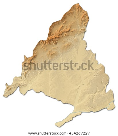 Relief map - Madrid (Spain) - 3D-Rendering - stock photo