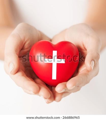 Christian Symbols Couple Holding Hands