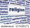 Religion message background. Spirituality poster conceptual design - stock photo