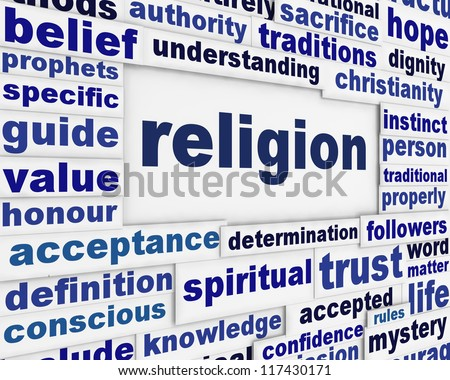 Religion message background. Spirituality poster conceptual design