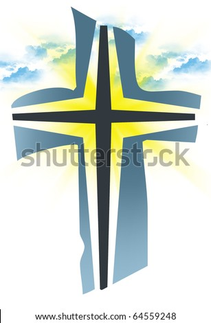 religious cross - stock photo