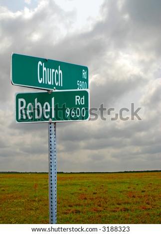 Religious Crossroads - stock photo