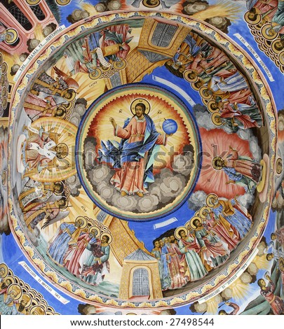 Religious icons and wall art 3 - stock photo