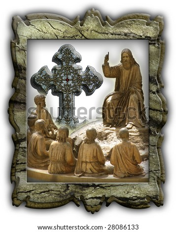 Religious illustration for different uses - stock photo