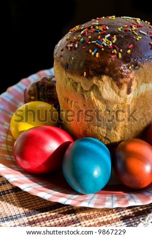 religious series: paskha and colour easter eggs