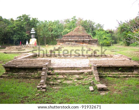Remaining of Wat That Khao, Wiang Kum Kam. Wiang Kum Kam is the ancient city, hope to be capital of Lanna Kingdom prior to Chiangmai.