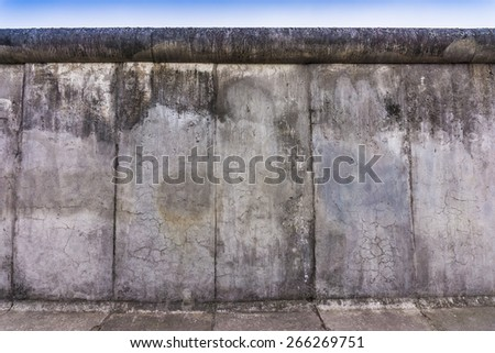 Remains of the Berlin Wall. The Berlin Wall (Berliner Mauer) in Germany - stock photo
