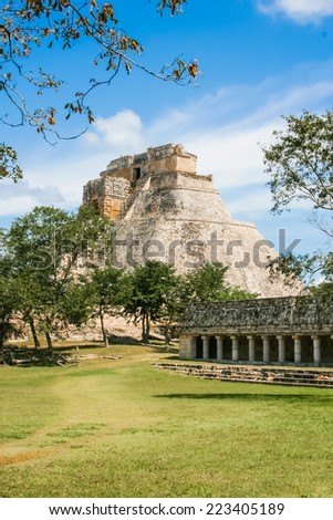 Remains of the Mayan empire. City hidden in the jungle - stock photo