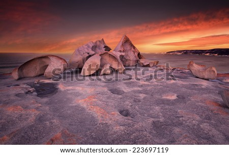 Remarkable Rocks in Kangaroo Island, South Australia - stock photo