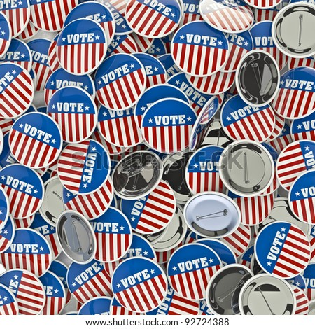 Remember to cast your vote - stock photo