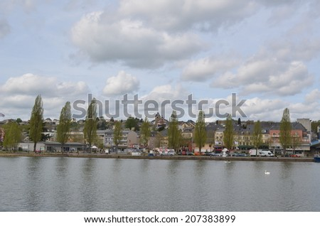 REMICH, LUXEMBOURG, APRIL 7, 2014: View over remich, wine capital of luxembourg.