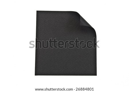 Reminder black note on white background