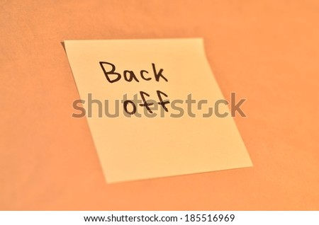 Reminder letters for the office on the note pad grunge background