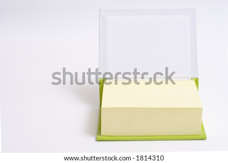 reminder notes on a white background - stock photo