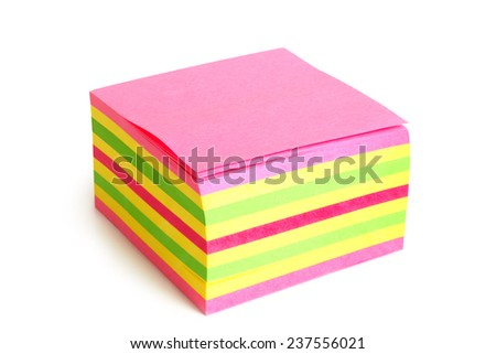 Reminder notes on the white background - stock photo