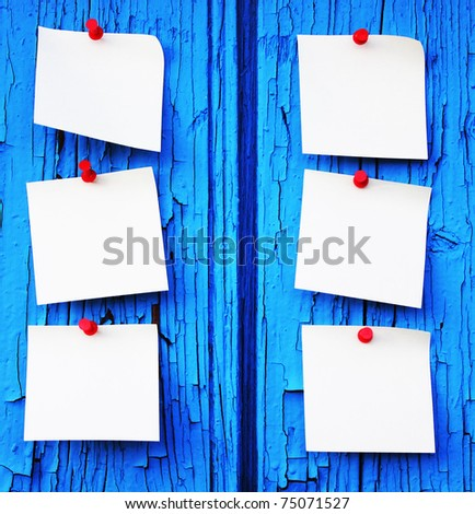 Reminder notes with space for your message - stock photo