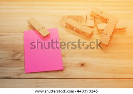 reminder sticky notes on wooden board, / selective focus, copy space - stock photo