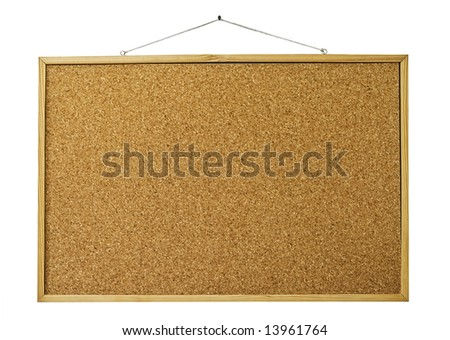 Reminder wooden board isolated on white - stock photo