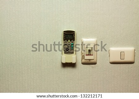 remote and switch - stock photo