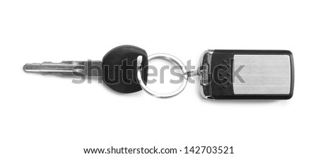remote car key isolated on white background - stock photo