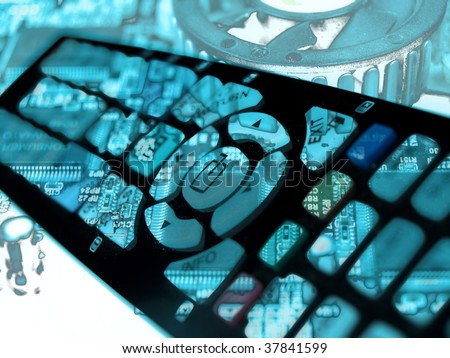 remote control abstract design - stock photo