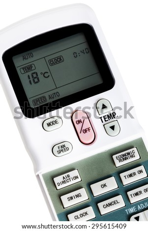 remote control air conditioning on a white background