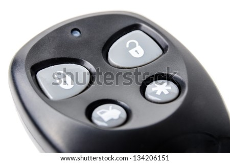 Remote control car alarm. Photo Close-up
