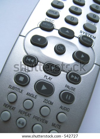 Remote control close-up - stock photo