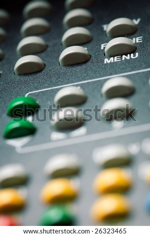 Remote Control , close up , retro style toned photo with shallow DOF - stock photo