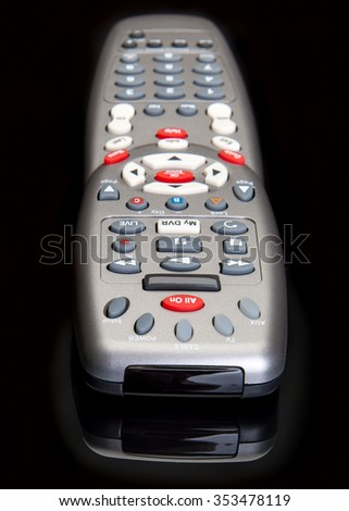 Remote control for hands on movie and sports programming - stock photo