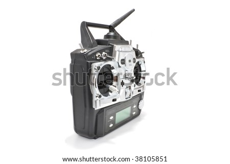 Remote control for helicopers and airplanes - stock photo