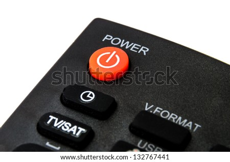 Remote control for home appliances. Photo Close-up - stock photo