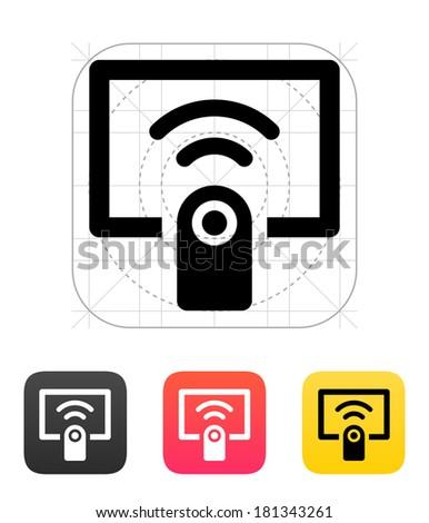 Remote control icon. - stock photo