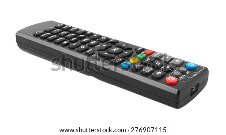 Remote control isolated on white background - stock photo