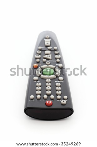 Remote Control isolated with clipping path. Close-Up photograph. - stock photo