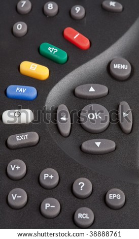 Remote control on white background. Isolated.