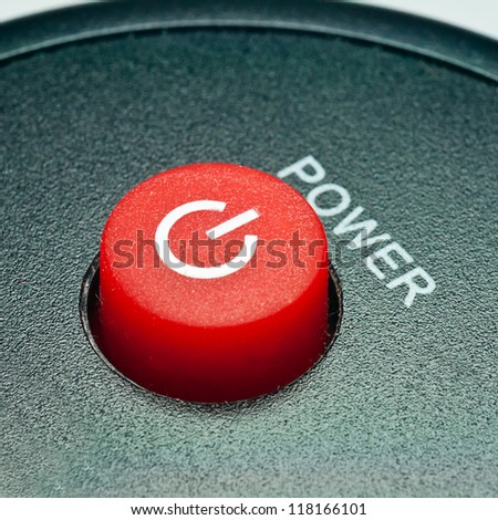 Remote control power button - stock photo