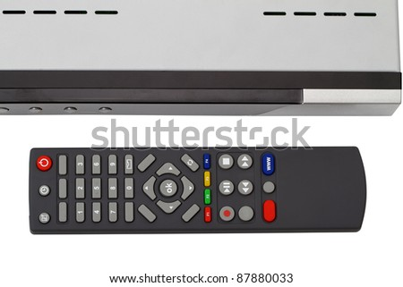 Remote control receiver isolated on white background - stock photo