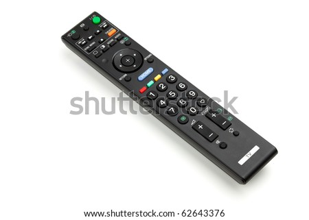 Remote control. Small DOF, Isolated on white background - stock photo