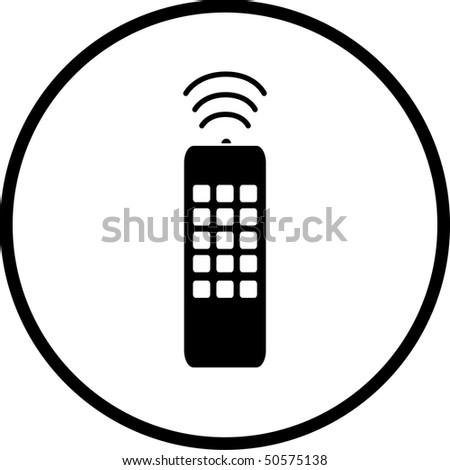 remote control symbol - stock photo