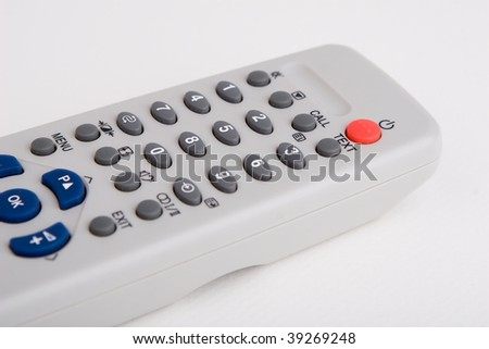 Remote control television isolated