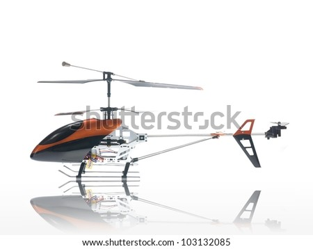 Remote control vehicles isolated against a white background - stock photo