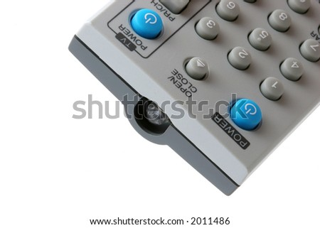 Remote control view in horizontal presentation.