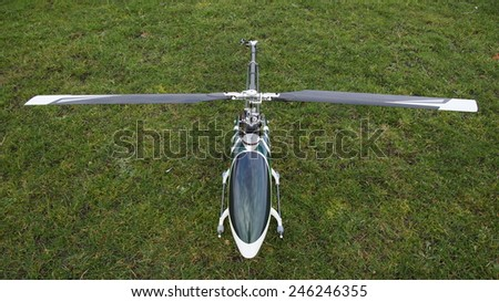 Remote controlled helicopter - stock photo