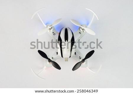 Remote Controlled Mini Quadcopter Drone - stock photo