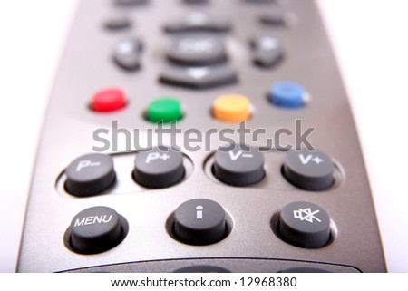 remote controller close-up, isolated #2