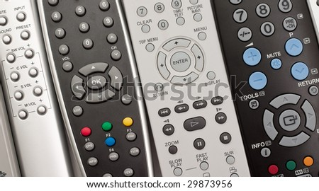 Remote controls for close-up.