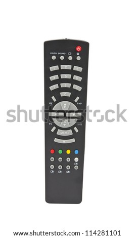 remote controls on the white background - stock photo
